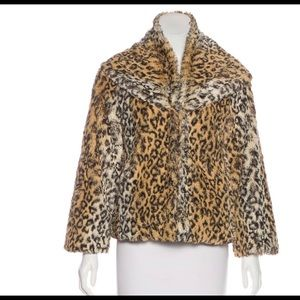 Alice + Olivia faux fur printed Jacket